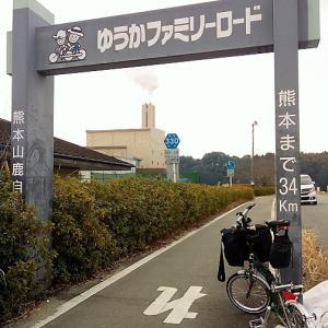 山鹿市山鹿-JR熊本駅前:「ゆうかファミリーロード」を南下