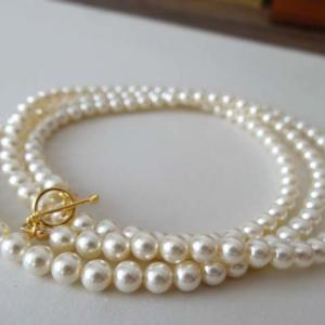 「Swarovski Crystal Pearl Long Necklace (90cm) 」