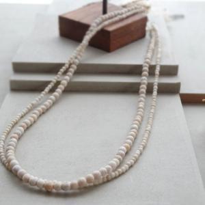 「天然石リバーストーン2連ネックレス」