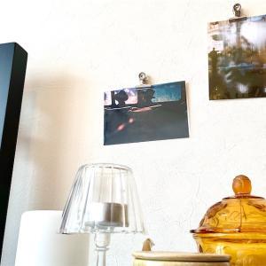 壁に穴を開けない!なんでもない壁にマグネットでカードを飾る