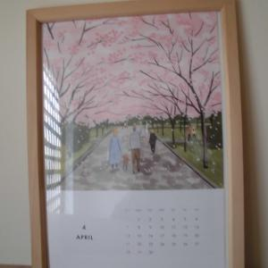家の中にも桜が!『北欧暮らしの道具店さん』の今月のカレンダー。