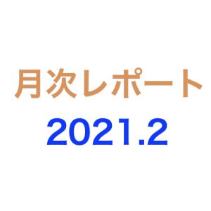 月次レポート 2021年2月度