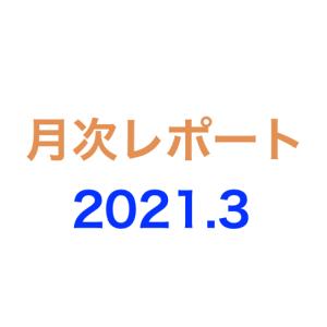 月次レポート 2021年3月度