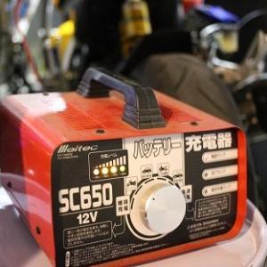 寒くなってきたのでガレージで充電です