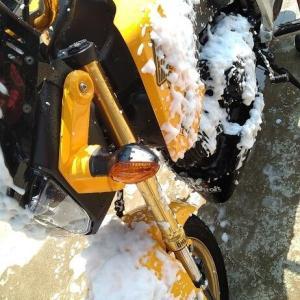 バイクも綺麗に!