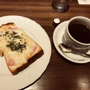 星乃珈琲店の北海道コーンのクロックムッシュ(2020年夏〜モーニング)