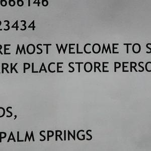 パームスプリングスのNEEDS閉店
