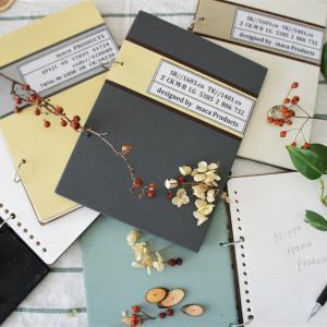 温かくておしゃれでかわいい木のノート