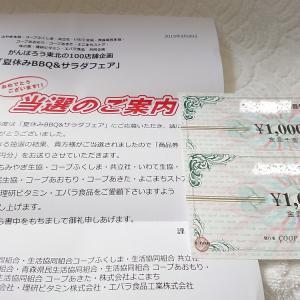 【当選1件】商品券2000円分♡実家にも商品券が届いたとも連絡あり☆