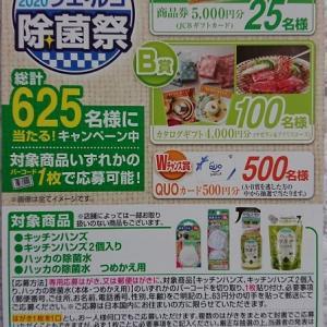 【懸賞情報】ウエ・ルコ♡2020除菌祭!総計625名さまに!と、今日締め切りのキャンペーン-!