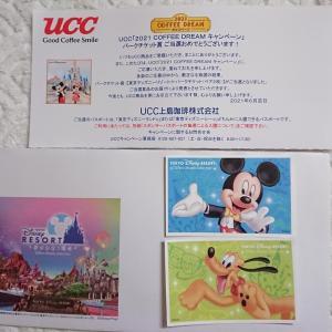 【大物当選】東京ディズニーリゾートパークチケット来たー♥UCC!今年2回目♫