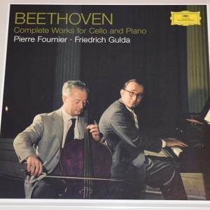 ベートーヴェン チェロ・ソナタ全集 変奏曲集 /フルニエ、グルダ(180g重量盤LP3枚組)
