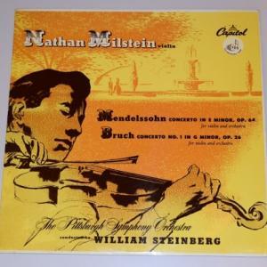 メンデルスゾーン、ブルッフ ヴァイオリン協奏曲/ミルシテイン、スタインバーグ、ピッツバーグ交響楽団