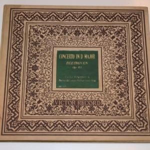 ベートーヴェン ヴァイオリン協奏曲/クライスラー、バルビローリ、ロンドン・フィルハーモニー管弦楽団(6枚組SPレコード)