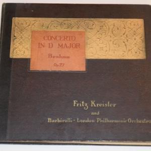 ブラームス ヴァイオリン協奏曲/クライスラー、バルビローリ、ロンドン・フィル(5枚組SPレコード)