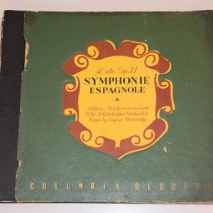 ラロ スペイン交響曲/ミルシテイン、オーマンディ、フィラデルフィア管弦楽団(3枚組SPレコード)