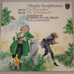 ハイドン 交響曲 第22番「哲学者」、第55番「校長先生」/マリナー、アカデミー室内管弦楽団