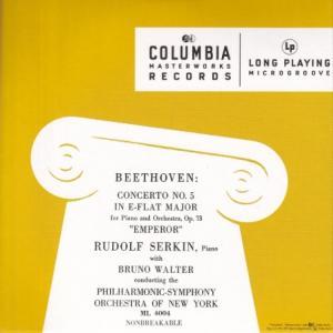 ベートーヴェン ピアノ協奏曲第5番「皇帝」/ゼルキン、ワルター、ニューヨーク・フィル