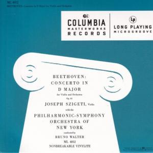 ベートーヴェン ヴァイオリン協奏曲/シゲティ、ワルター、ニューヨーク・フィル