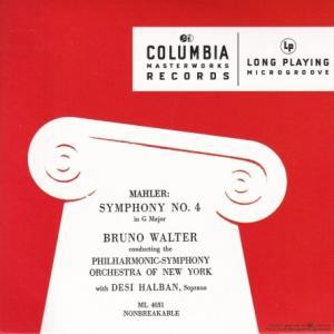 マーラー 交響曲 第4番 /ワルター、ニューヨーク・フィル、ハルバン