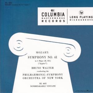 モーツァルト 交響曲 第41番「ジュピター」、第38番「プラハ」/ワルター、ニューヨーク・フィル
