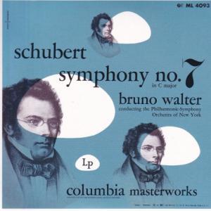 シューベルト 交響曲第7(9)番「ザ・グレート」、ブラームス 運命の歌/ワルター、ニューヨーク・フィル他