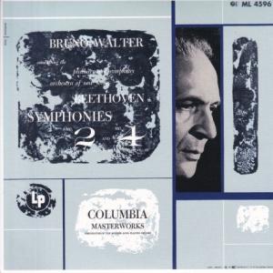 ベートーヴェン 交響曲 第2番、第4番/ワルター、ニューヨークフィル