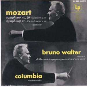 モーツァルト 交響曲第40番、35番/ワルター、ニューヨーク・フィル