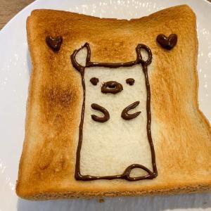 のっティのお誕生日にのっティトースト♪食パン簡単デコでお祝い!