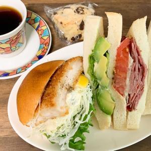 「サリュアンシャンテ」でボリューム満点サンドイッチランチ♪