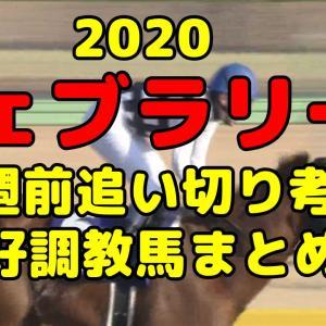 【フェブラリーS 2020】1週前追い切りタイム評価&好調馬まとめ