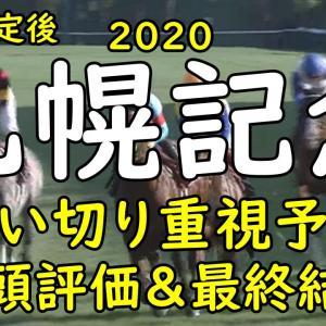 【札幌記念 2020 予想】最終追い切り 全頭評価まとめ
