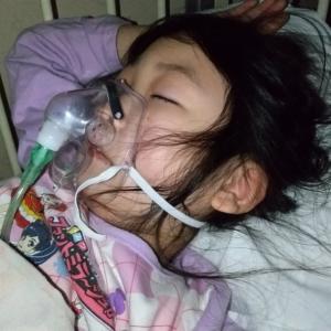 入院二日目。酸素マスク