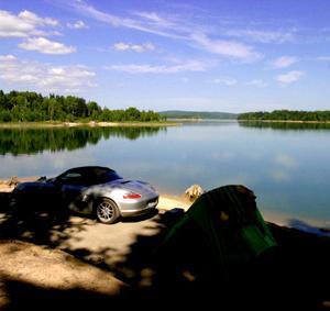 朱鞠内湖湖畔キャンプ場の第三サイト