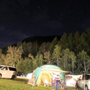 キャンプで観る星空