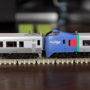 キハ283増結車両の入線