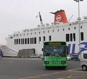 【前面展望】小倉港松山行きフェリーのりば⇒紫川橋 北九州市営バス