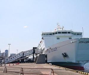 フェリーはやとも2小倉港出港 松山・小倉フェリー