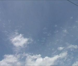ようやく明けた梅雨の空