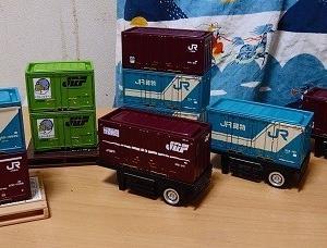セリアのJR貨物コンテナ形ブリックボックス