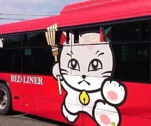 追い出し猫ラッピングバス JR九州バス