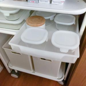 食器の整理と保存容器の収納場所
