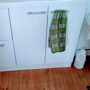 洗面所のお手拭きタオルの場所変更お試し