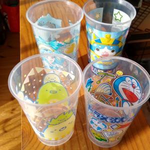 【ダイソー】コロンとしたグラス、子供用に
