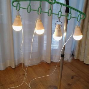 【ダイソー】電球型LEDライトで停電に備える