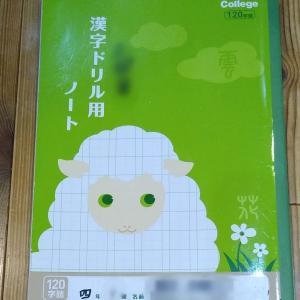 【100均】漢字ノートは100字/ページを超えると十字リーダーなしに