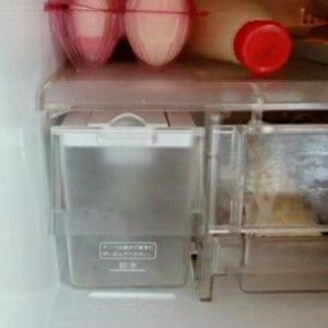 冷蔵庫の自動製氷機能が壊れたので収納スペースに