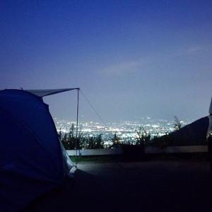 街の光と温泉キャンプ!前編 <ほったらかしキャンプ場>