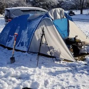 千葉で雪中キャンプ!後編 <成田ゆめ牧場キャンプ場>
