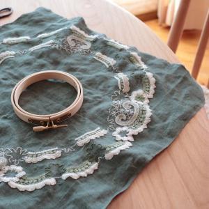 パワーストーンと刺繍の宿題